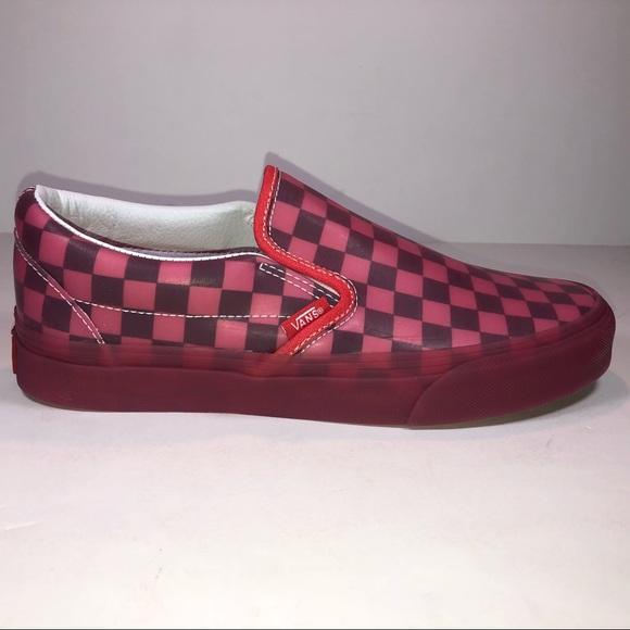 ab6e1ae8e073 Vans Slip On Translucent Rubber Hibiscus Sneakers